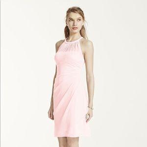 Pink David's Bridal Dress
